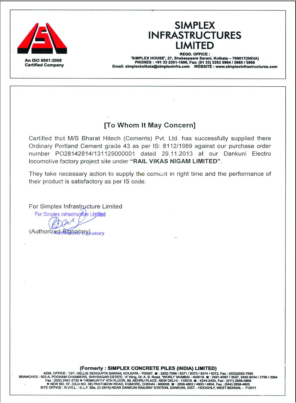 Bharat Cement || Clients